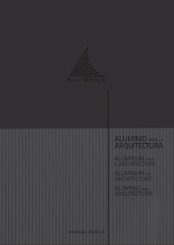 ALUMINIUM POUR L'ARCHITECTURE