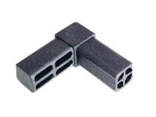 7091102 uni n a 90 con 2 salidas para tubo de 25x25 for Uniones para perfiles cuadrados de aluminio