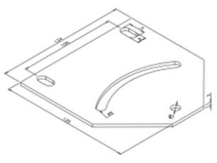 Flat pivoting plate