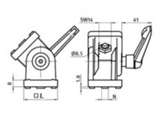 Adjustable joint with locking mechanism