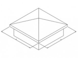 Pyramid-shaped finishing cover