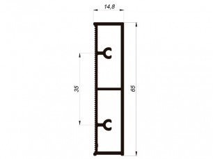 110530 - Rectangular skirting board 65x15 mm