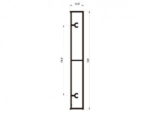 110532 - Rectangular skirting board 105x15 mm