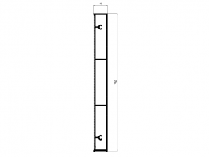 110534 - Rectangular skirting board 150x15 mm