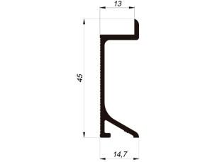 110549 - Pladeyeso skirting board 45x13 mm