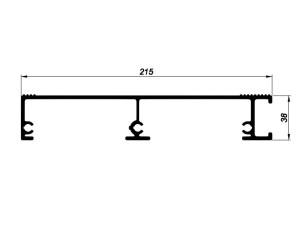 163011 Die-cut platform 215x38