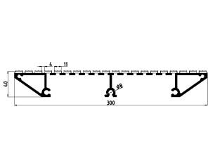 163022 Plataforma fresada 300x40