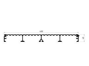 163023 Plataforma fresada 400x40