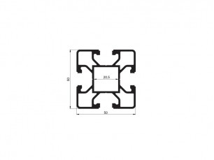Profilé 50x50 4 canaux