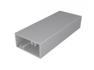 Rectangular tube with screw support 40x20x2