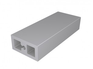 Rectangular tube with screw support 40x20x4