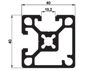 140102 - Aluskit 40x40 Corner piece