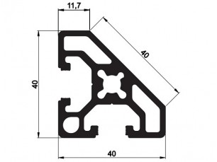 140103 - Aluskit 40x40 Esquinero biselado
