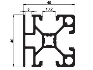 140107 - Aluskit 40x40 Crosspiece