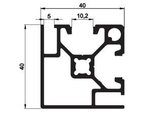 140108 - Aluskit 40x40 Esquinero paneles