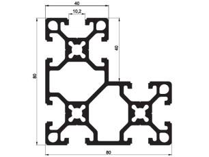 140115 - Aluskit 80x80 Corner piece