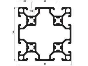 140121 - Aluskit 80x80 Square