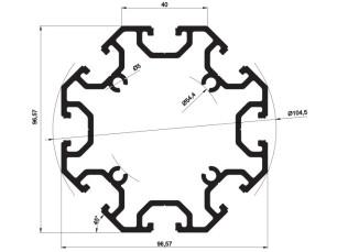 140130 - Aluskit octagonal
