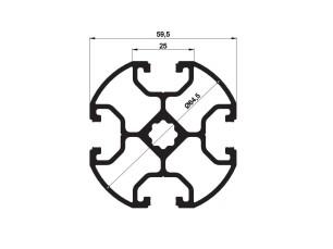 140255 - Aluskit round Ø64,5 4 Channels