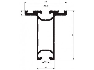 Perfil T 70x60 Reforzado
