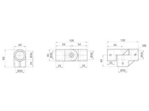 7090380 - Compás 3 salidas horizontal/vertical