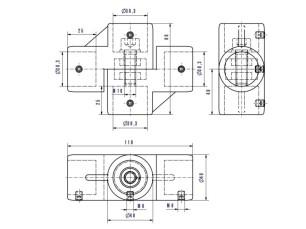 7090382 - Compás 4 salidas horizontal/vertical