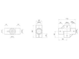 7090311 - Cruz longitud 110 mm