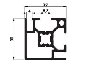 140008 - Aluskit 30x30 Corner piece