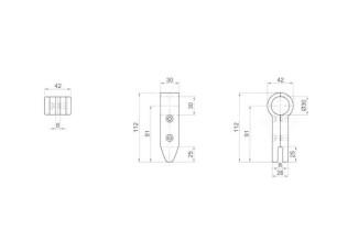 7090362 - Soporte lateral para vidrio 112 mm