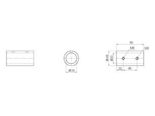 Prolongador 90 mm