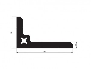 140263 - Right-angle bracket 90x50x10