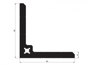 140264 - Right-angle bracket 90x90x10