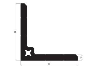 140264 - Profilé équerre 90x90x10