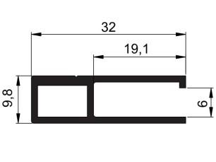 140161 - Perfil marco rejilla