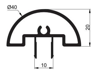 140140 - Perfil tapa redonda