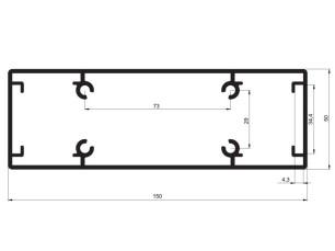 140175 - Aluskit tubulaire 150x50