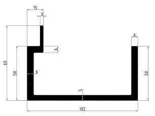 155006 - Platform edging piece 102x69
