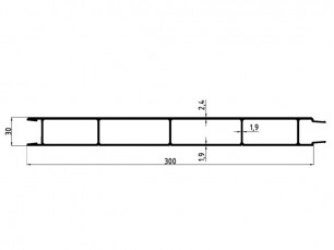 155016 - Lateral slat 300x30