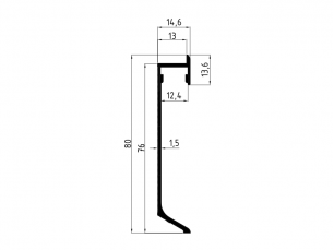 110571 - Rodapé LEDkit Pladeyeso 13x80