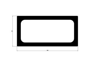 Tubo rectangular 160x80x10