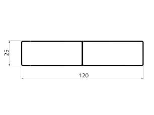 155024 - Railing 120x25
