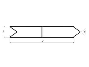 155023 - Lama apilable de 140x25
