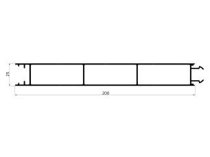 155052 - Intermediate tail gate 200x25