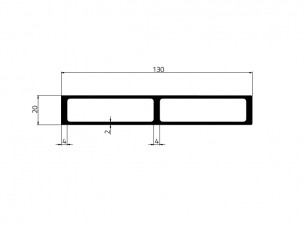 155027 - Insulating profile 130x20x4/2 Reinforced