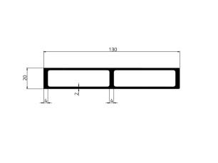 155027 - Perfil aislador 130x20x4/2 Reforzado