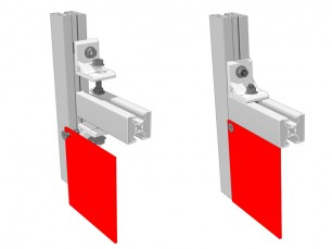 Aluminium right-angled bracket 50x50x8
