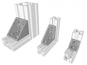 Escuadras de aluminio inyectado