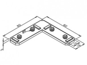 Large lateral inner right-angle bracket