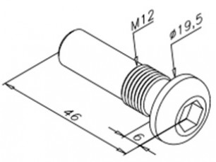 Hinge pivoting screw