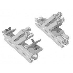 Aluskit bracket false hinge